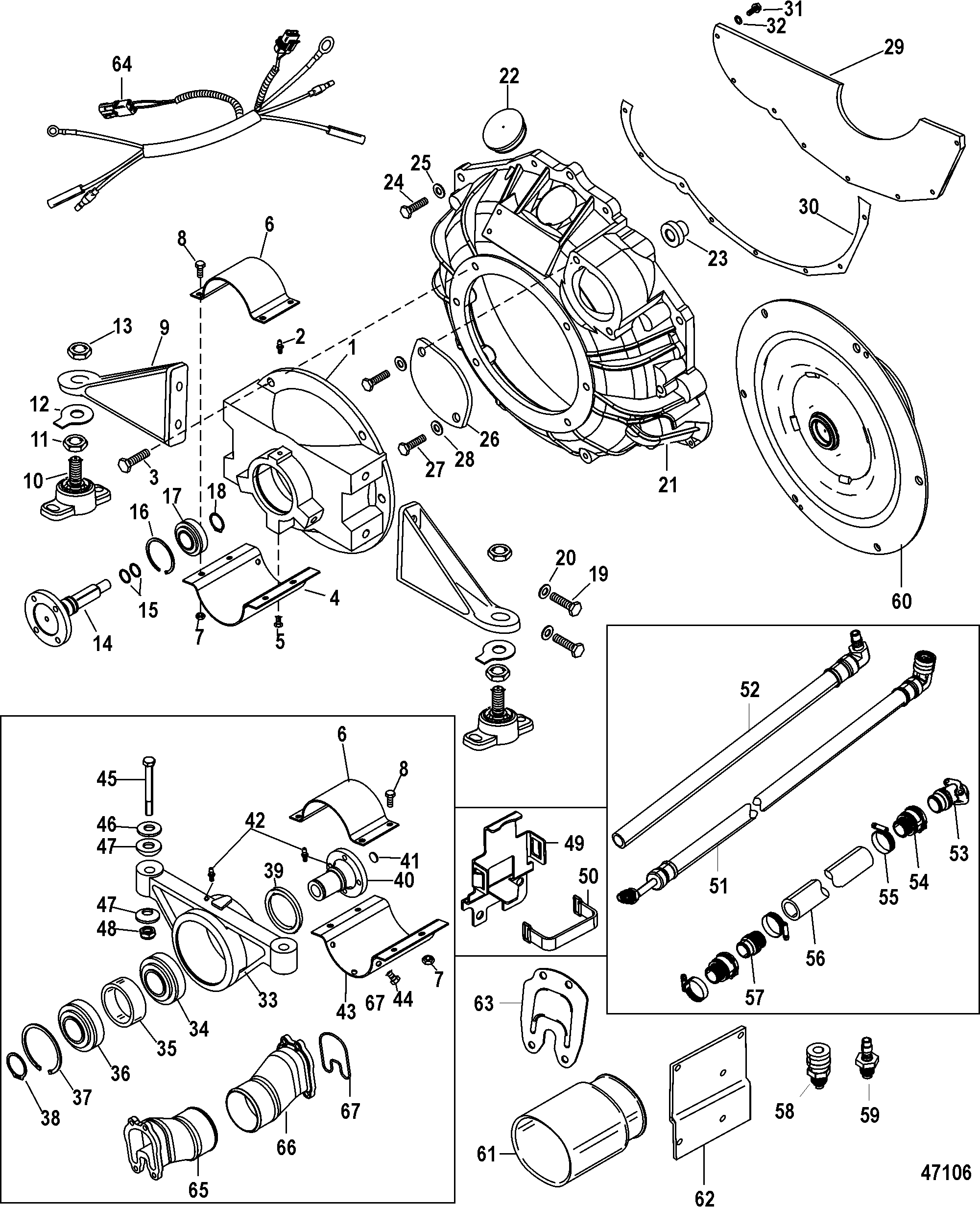 Jackshaft Main Kit For Mercruiser 496 Mag Sterndrive