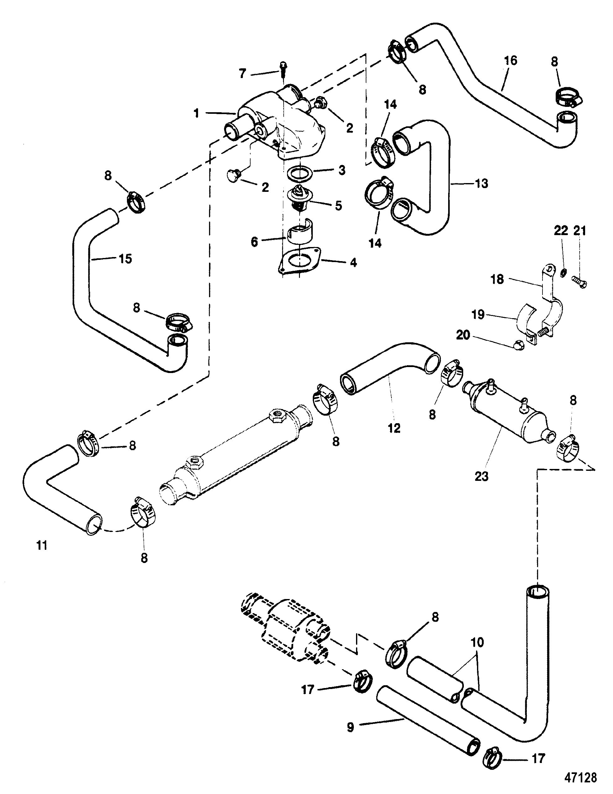 120 Hp Mercruiser Engine Diagram Pictures To Pin On