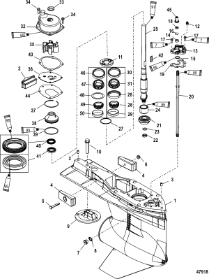 Gear Housing, Driveshaft, 480 Torpedo FOR MARINER