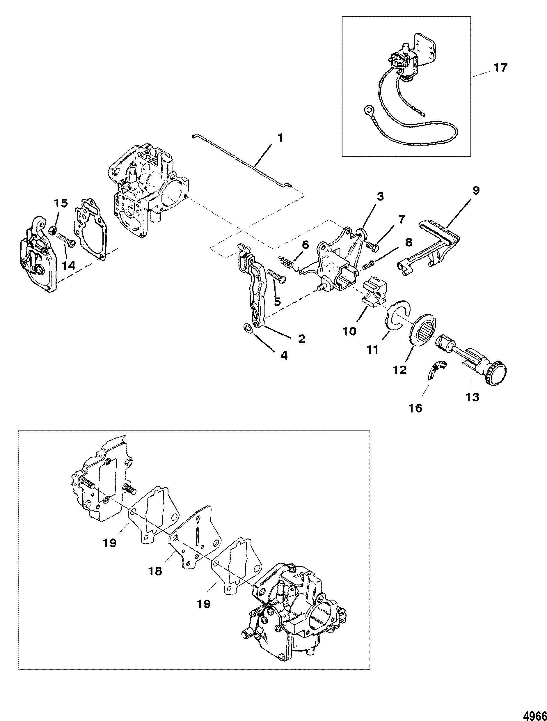 Carburetor Linkage For Mariner Mercury 6 8 9 9 15 Hp
