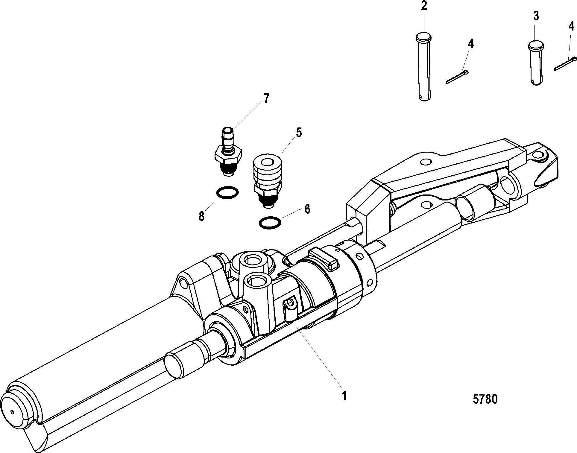 Power Steering Actuator For Mercruiser Bravo I Ii Iii