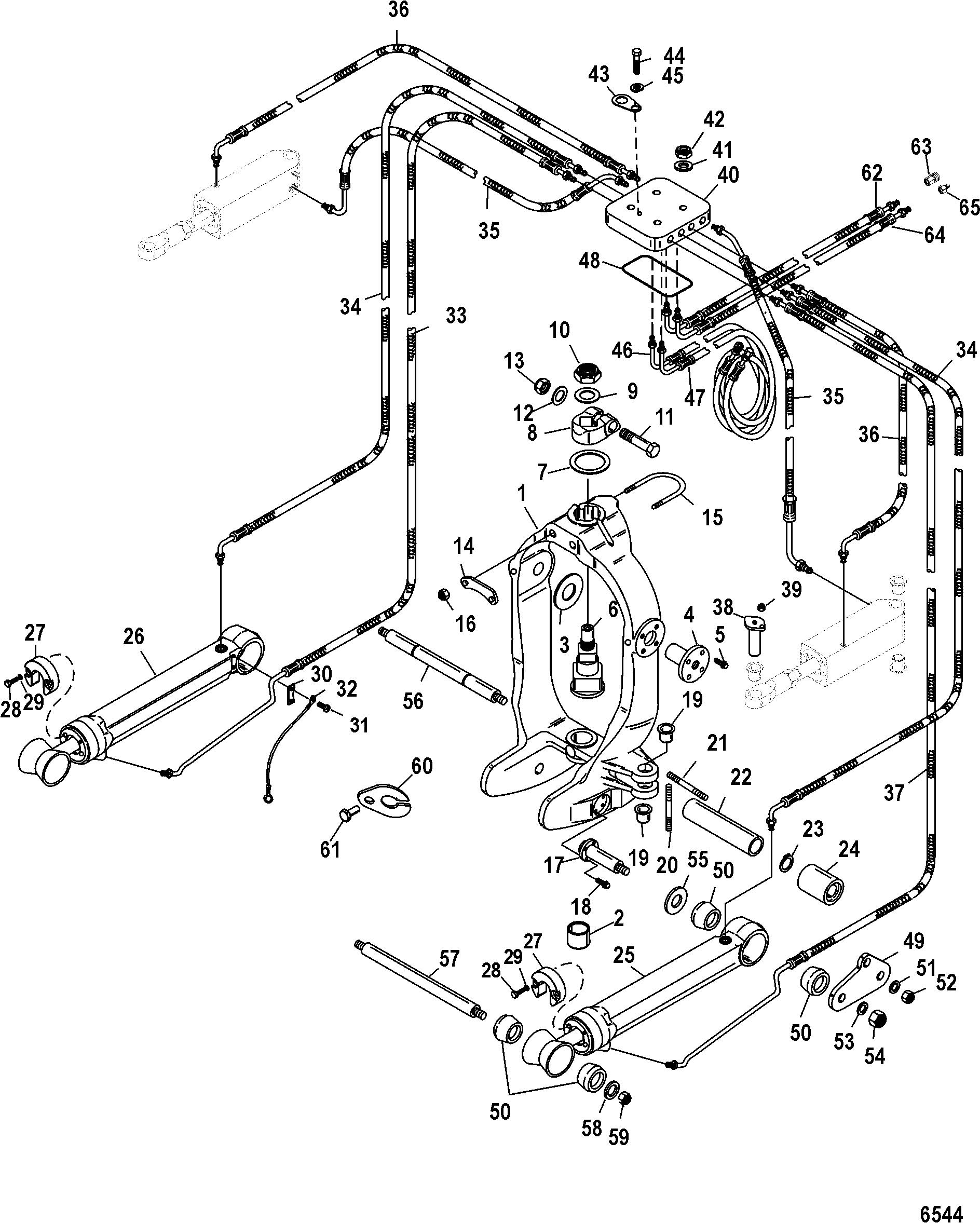 Gimbal Ring Integrated Transom For Mercruiser Race Sterndrive Bravo Xr I