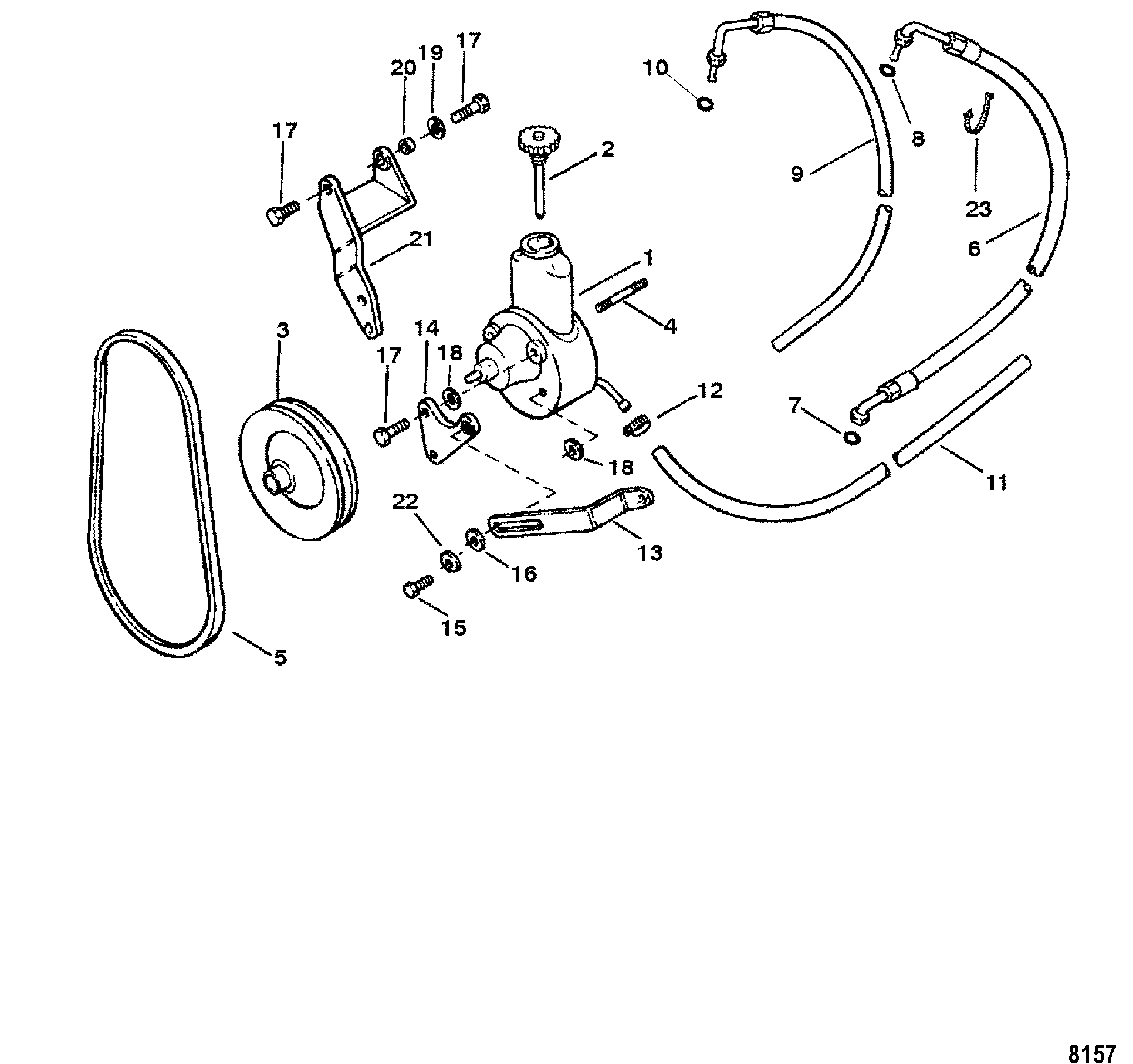 Power Steering Pump Assembly For Mercruiser 3 0l Alpha One