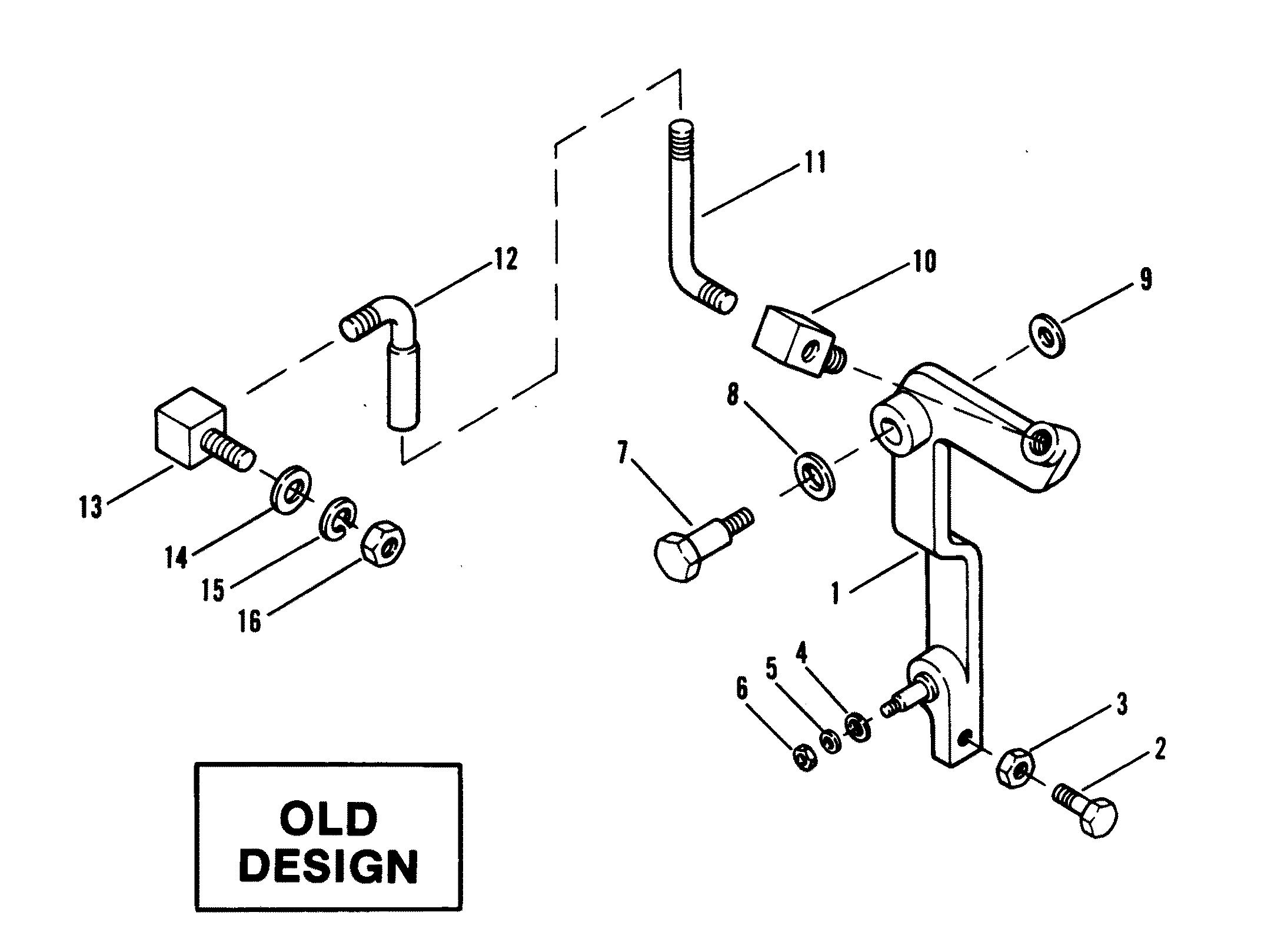 Throttle Components Old Design For Mercruiser 120 H P 2