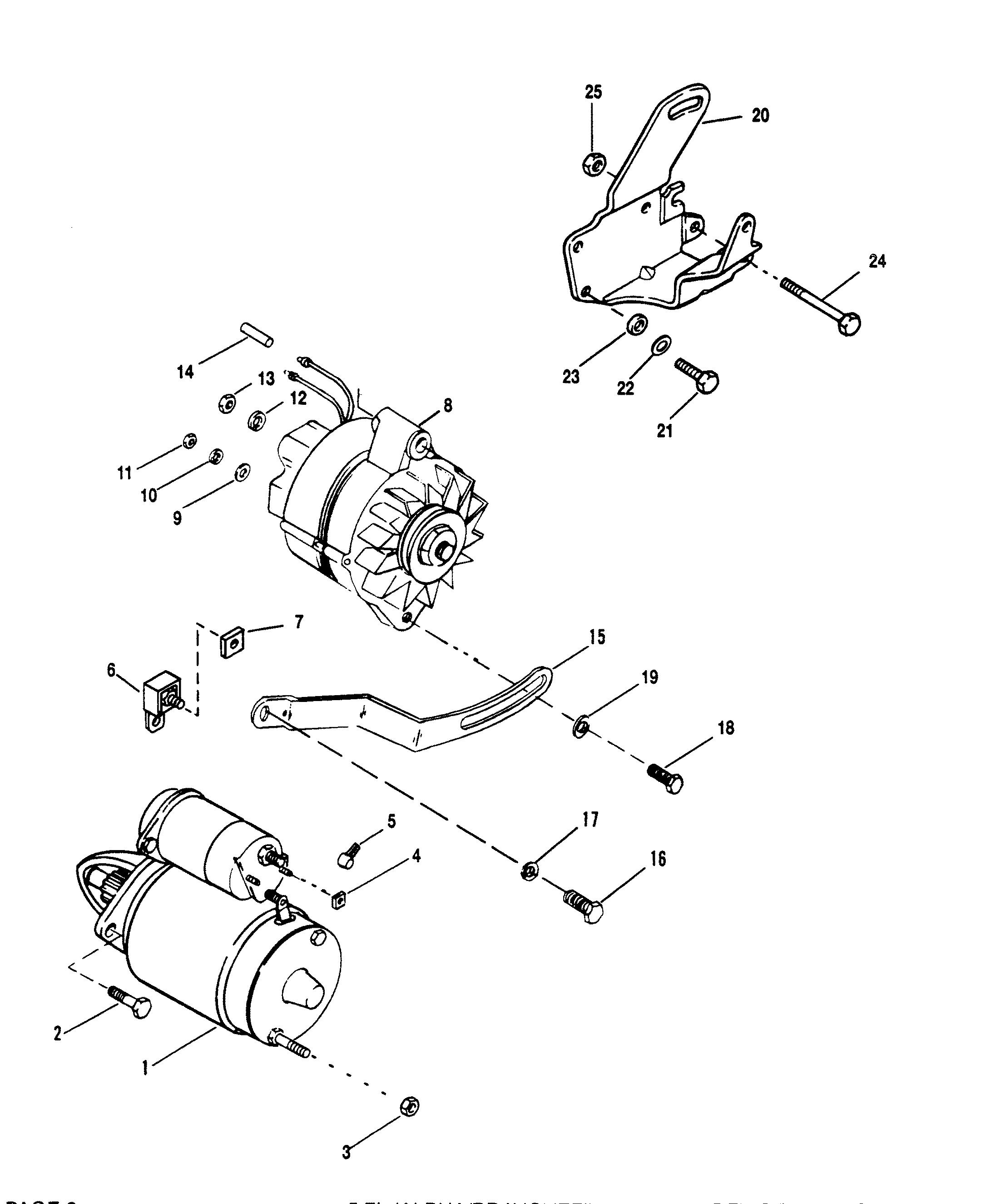3 0 Mercruiser Wiring Diagram Diagrams 5 Tachometer 454 Starter