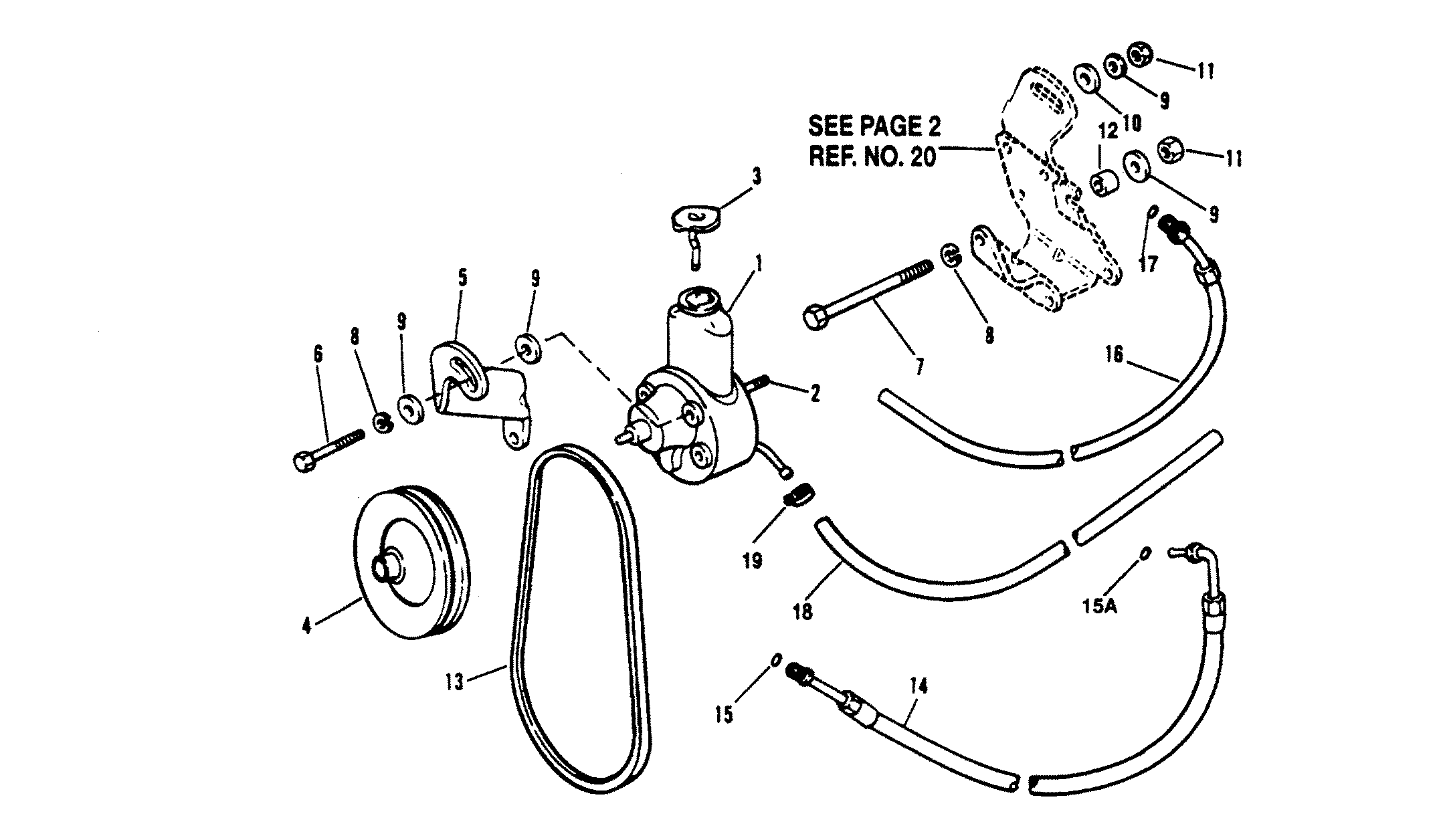 Power Steering Components For Mercruiser 5 7l Alpha Efi