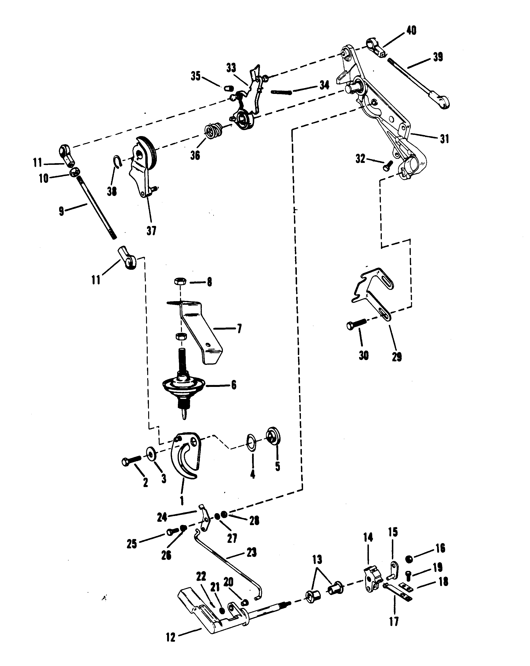 Throttle And Shift Linkage Mariner Manual For Mariner