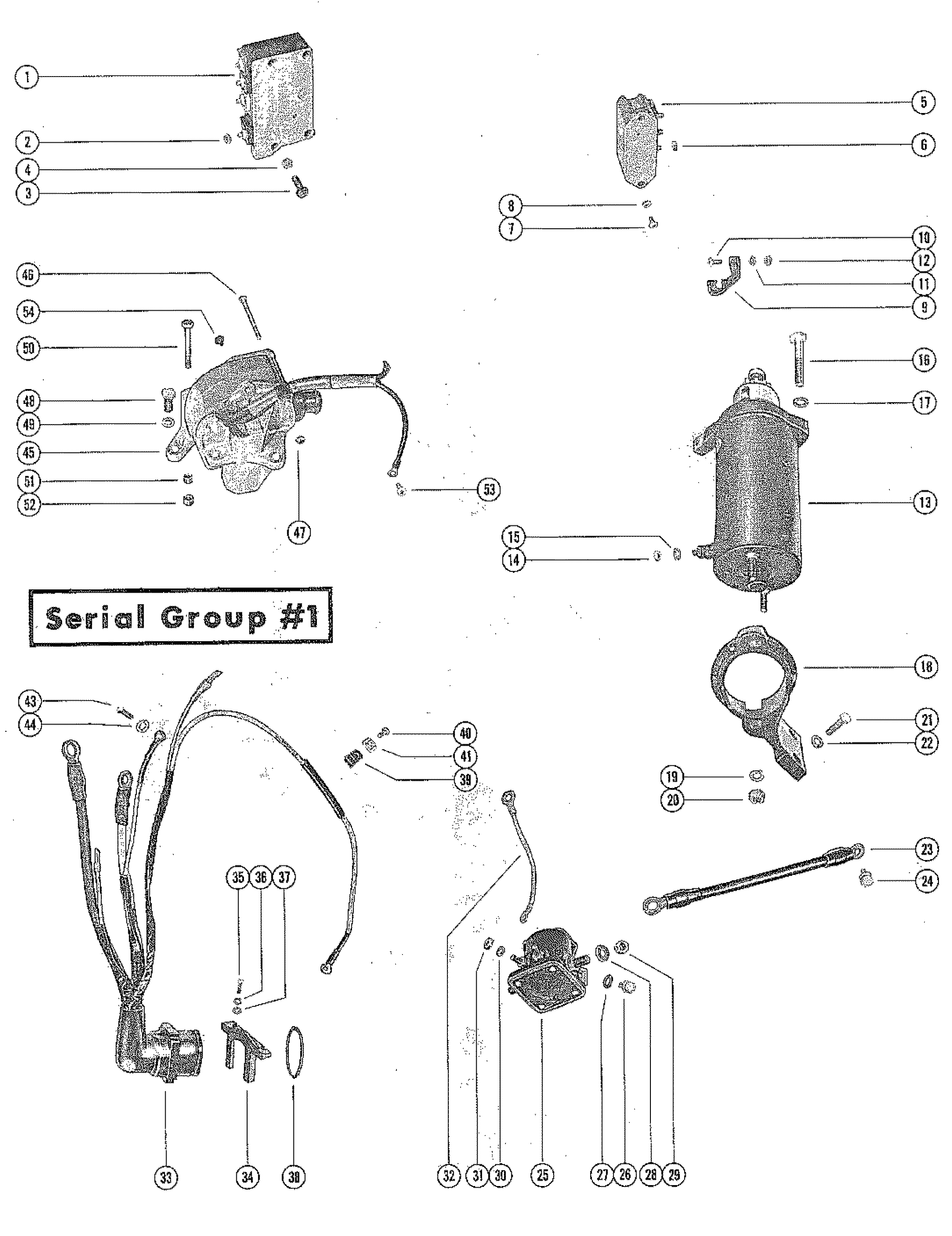 Starter Motor And Wiring Harness Serial Group 1 For