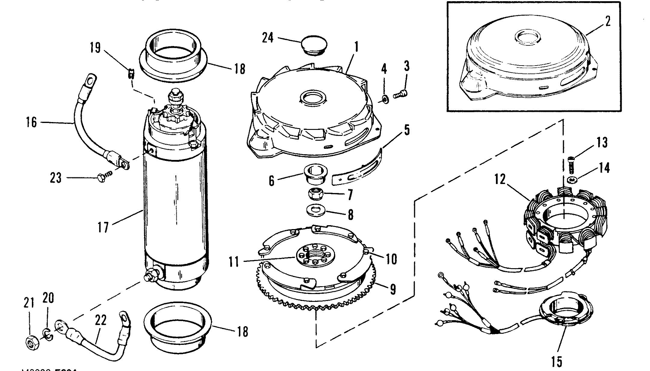 Flywheel Starter Motor For Mariner Mercury 200 H P V 6