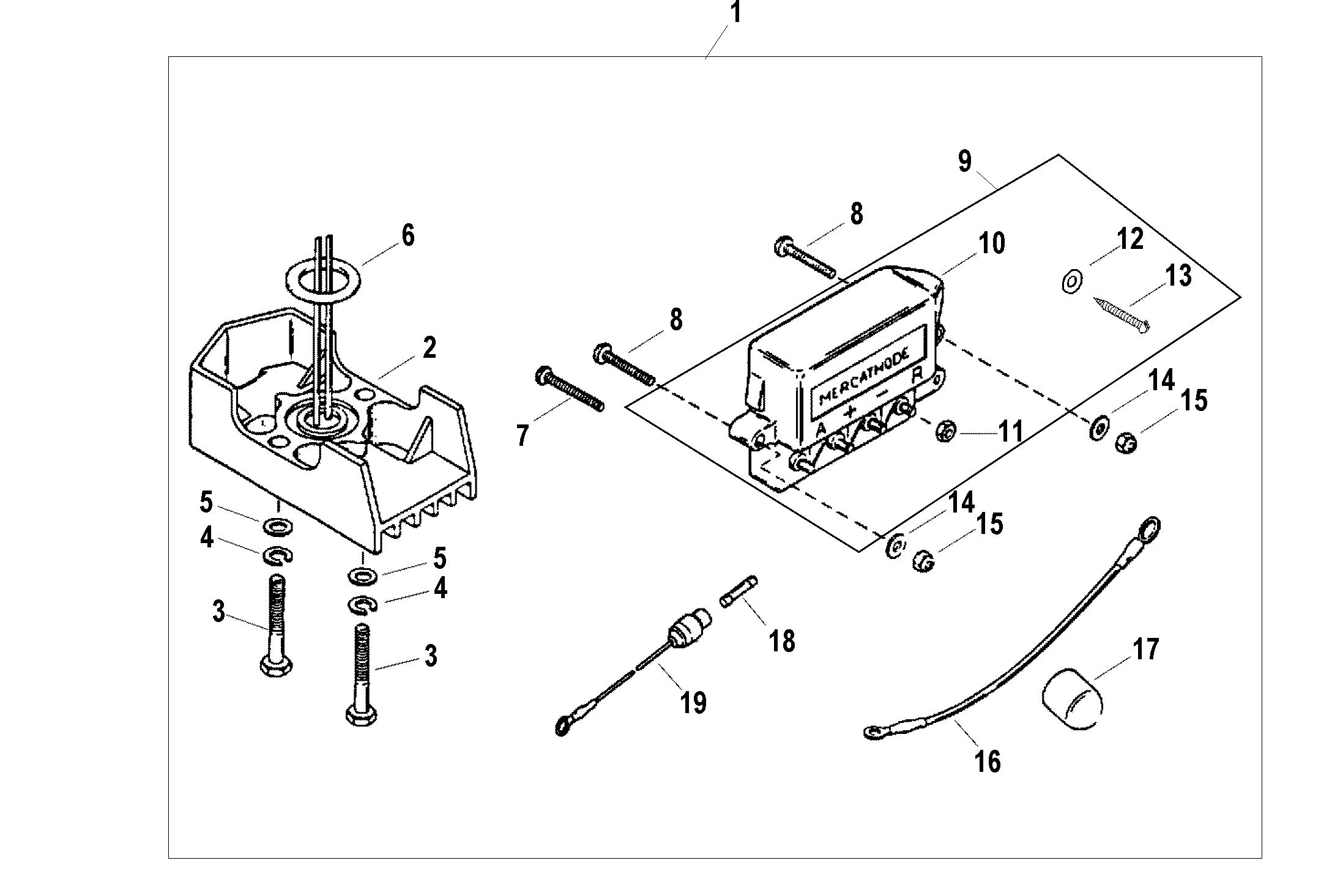 Mercathode Kit A14 For Fuel Tanks Fuel Lines