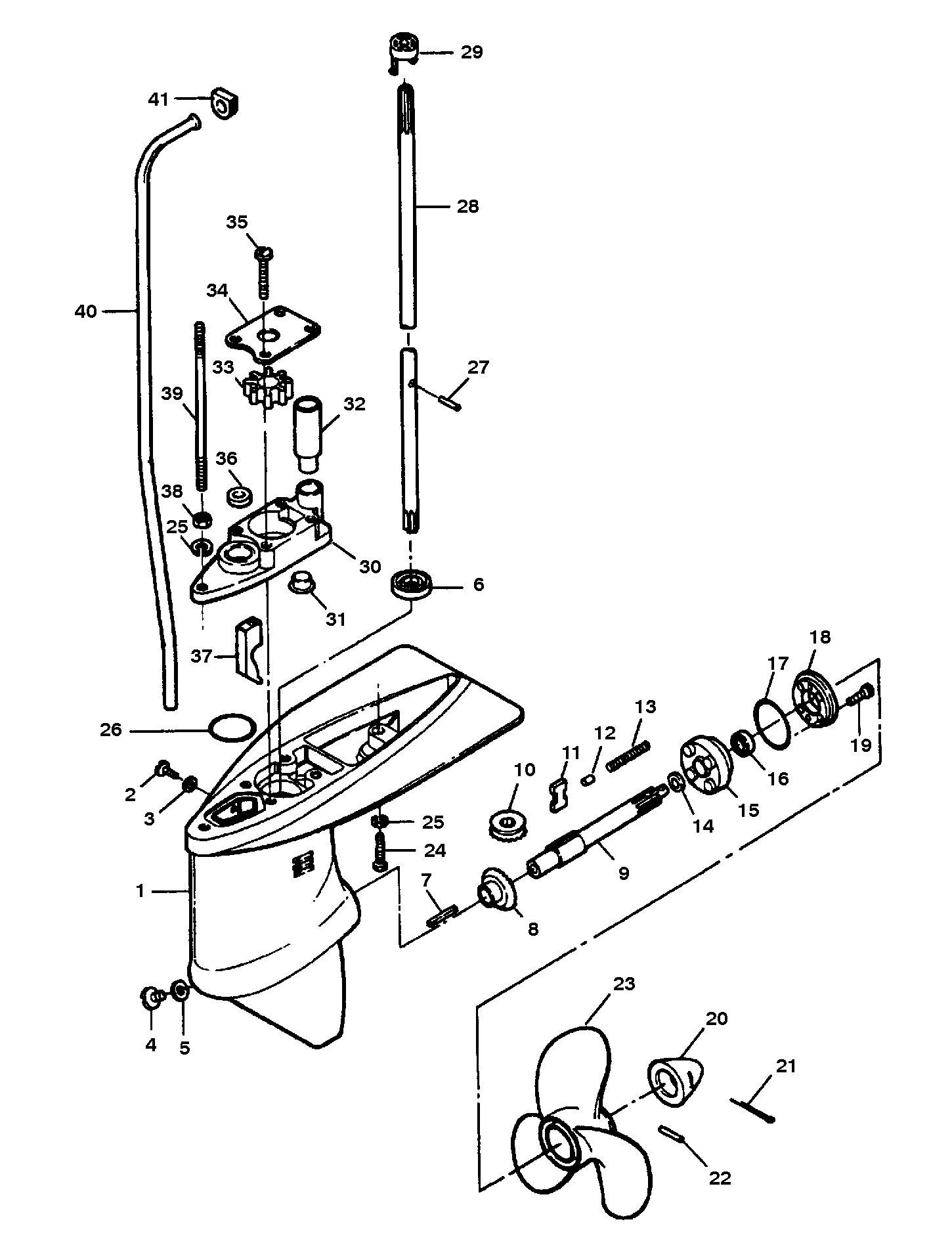 Gear Housing Assembly For Gamefisher 5 H P
