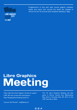 My poster for libre graphics meeting jakub jankiewicz Open source graphics software
