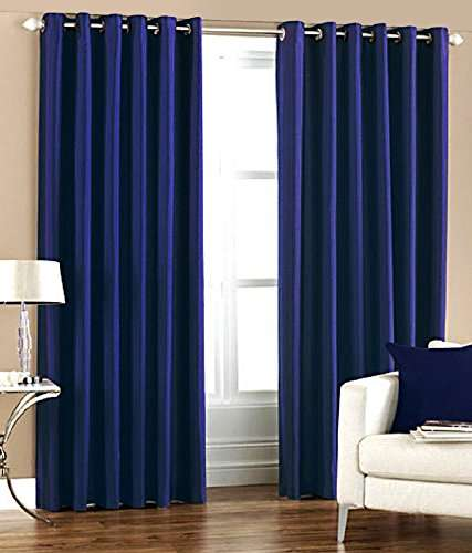 plain curtain by bsb trendz window curtains size 4x5 feet plain curtain curtains for window 5 feets beads curtains for home blue color