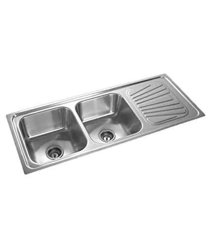 radium stainless steel double bowl kitchen sink size 54 x 18 x 8 204 grade