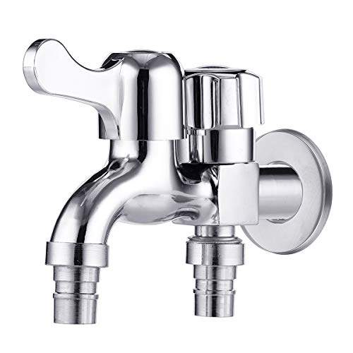 hitsan incorporation multifunctional double outlet taps dual connect bathroom washing machine faucet garden tap