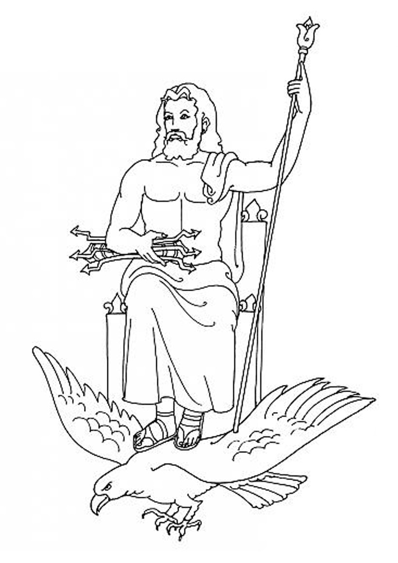 Poseidon Coloring Pages