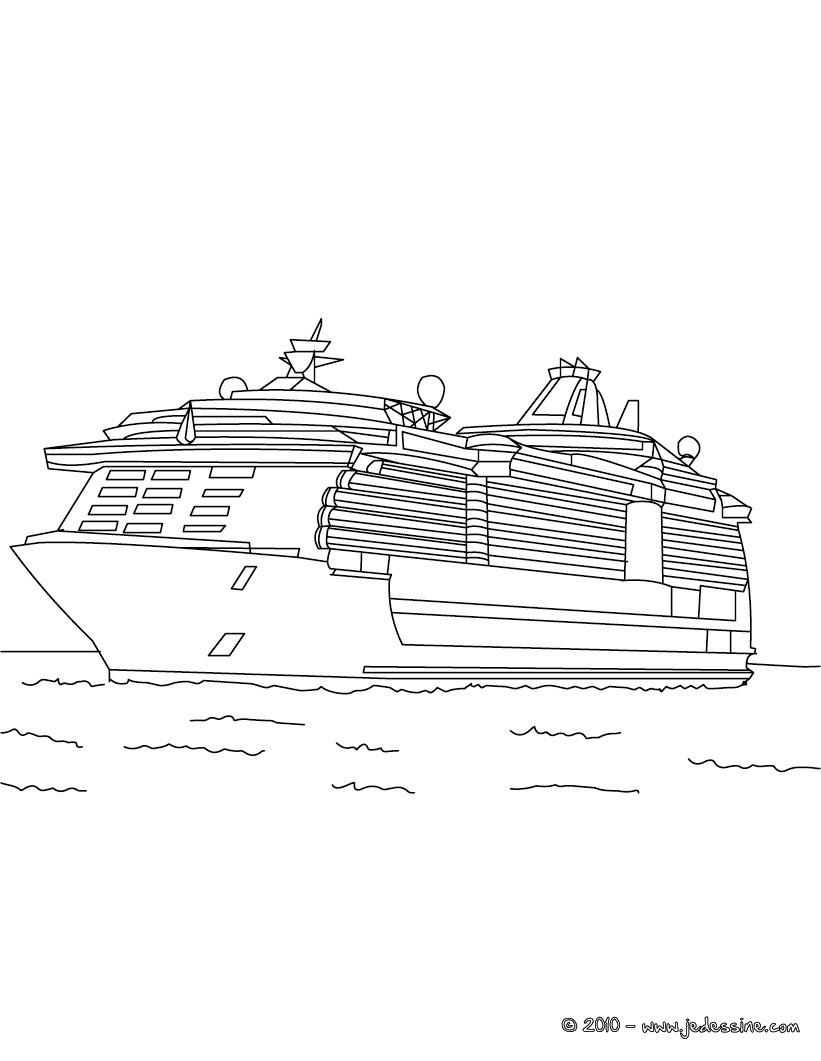 Coloriages Coloriage Yacht Imprimer Frhellokidscom