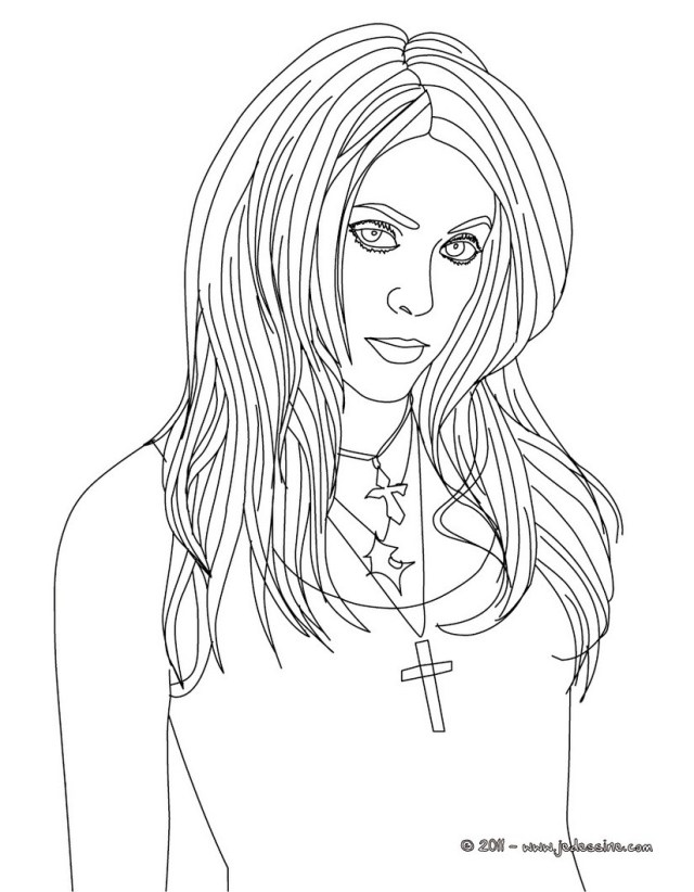 Hot girls coloring pages