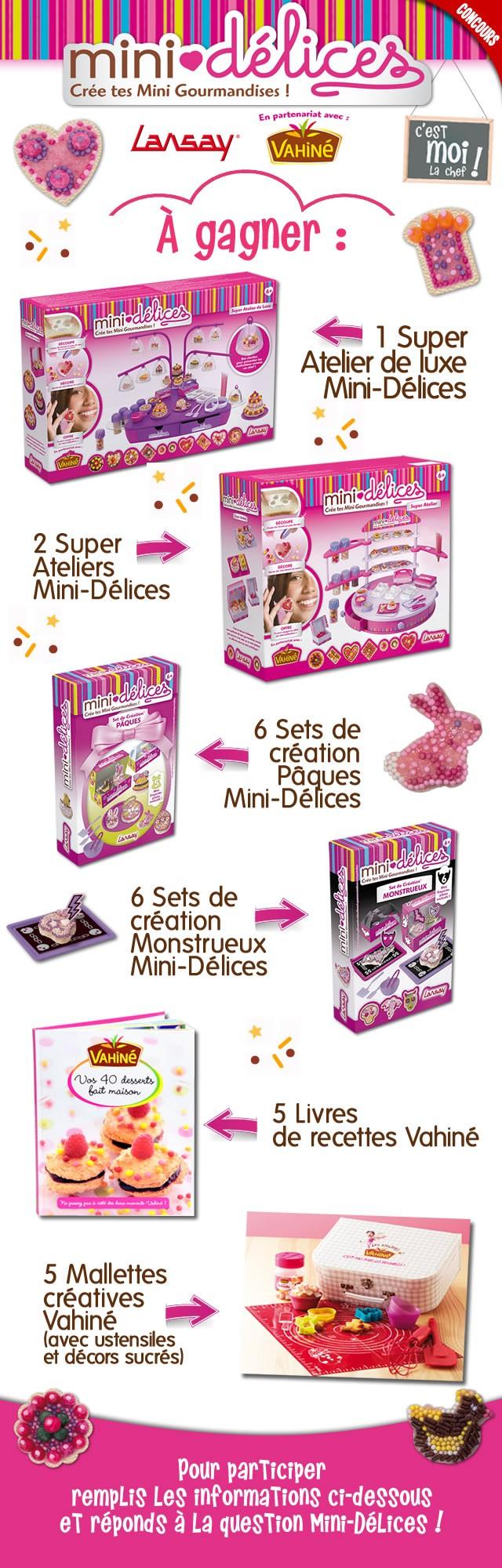 Joue avec Mini-Délices de Lansay et Vahiné et gagne plein de cadeaux !