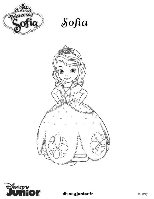 Coloriages princesse sofia en robe de bal - fr.hellokids.com