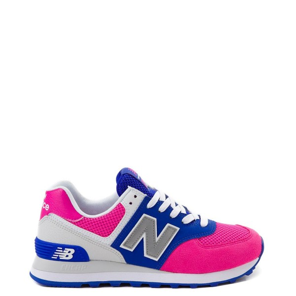 Womens New Balance 574 Athletic Shoe - Pink / Blue ...
