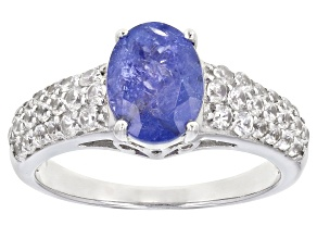 Tanzanite Jewelry  Buy Tanzanite Jewelry Online   JTV com Blue Tanzanite Sterling Silver Ring 2 58ctw