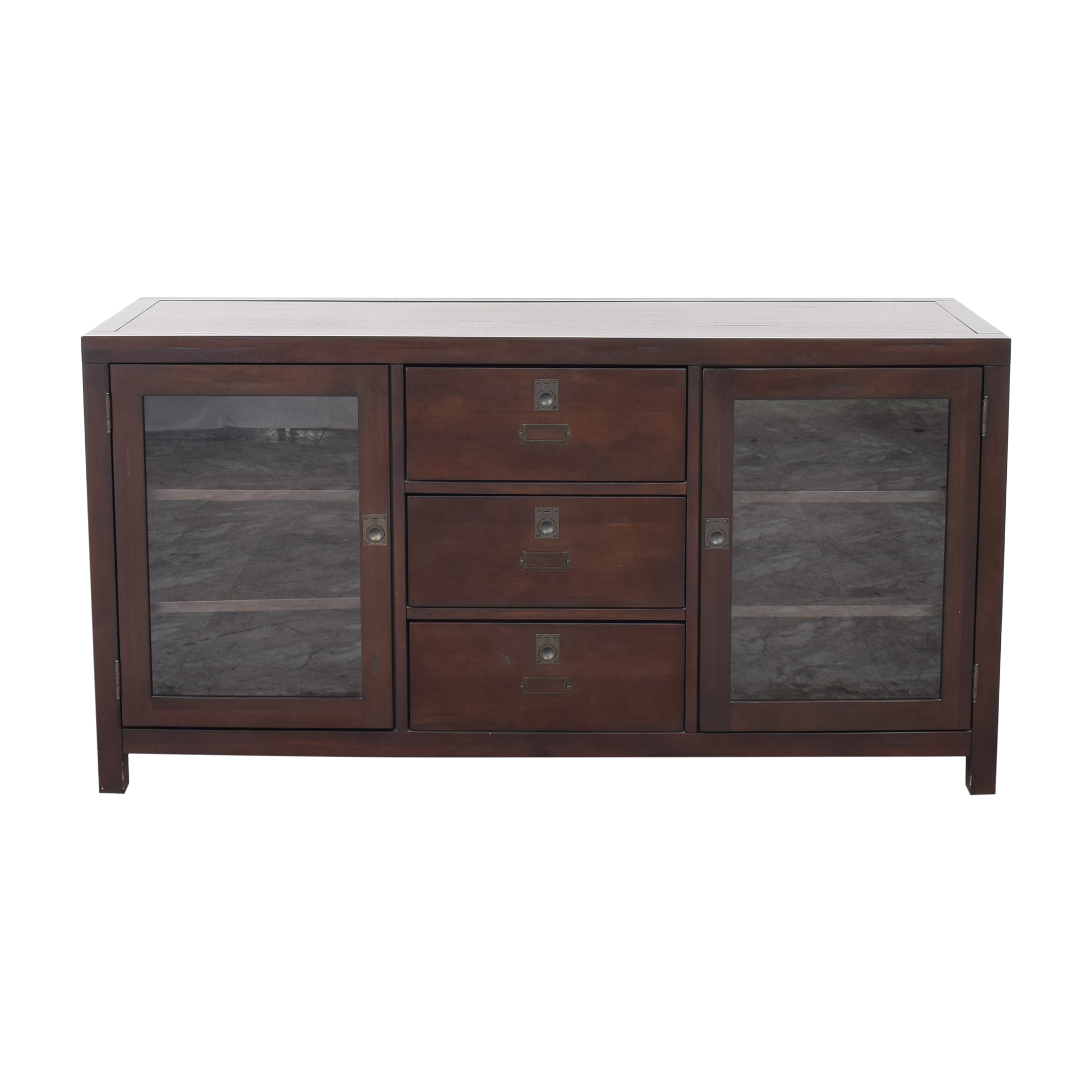 45 off pottery barn pottery barn rhys media console storage