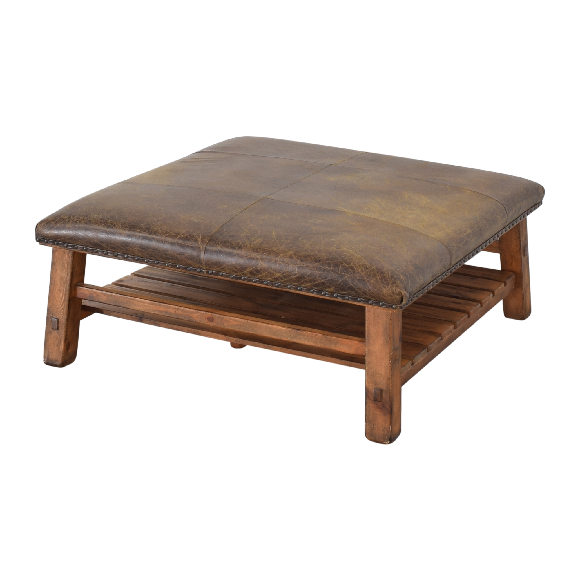 66 off pottery barn pottery barn caden square ottoman or coffee table tables