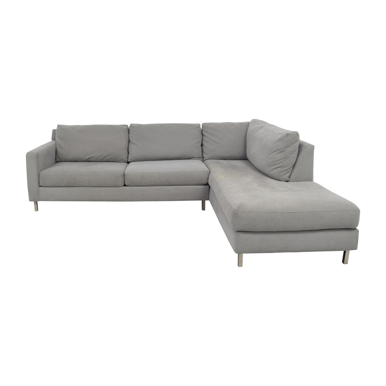 63 off raymour flanigan raymour flanigan modern grey sectional sofa sofas