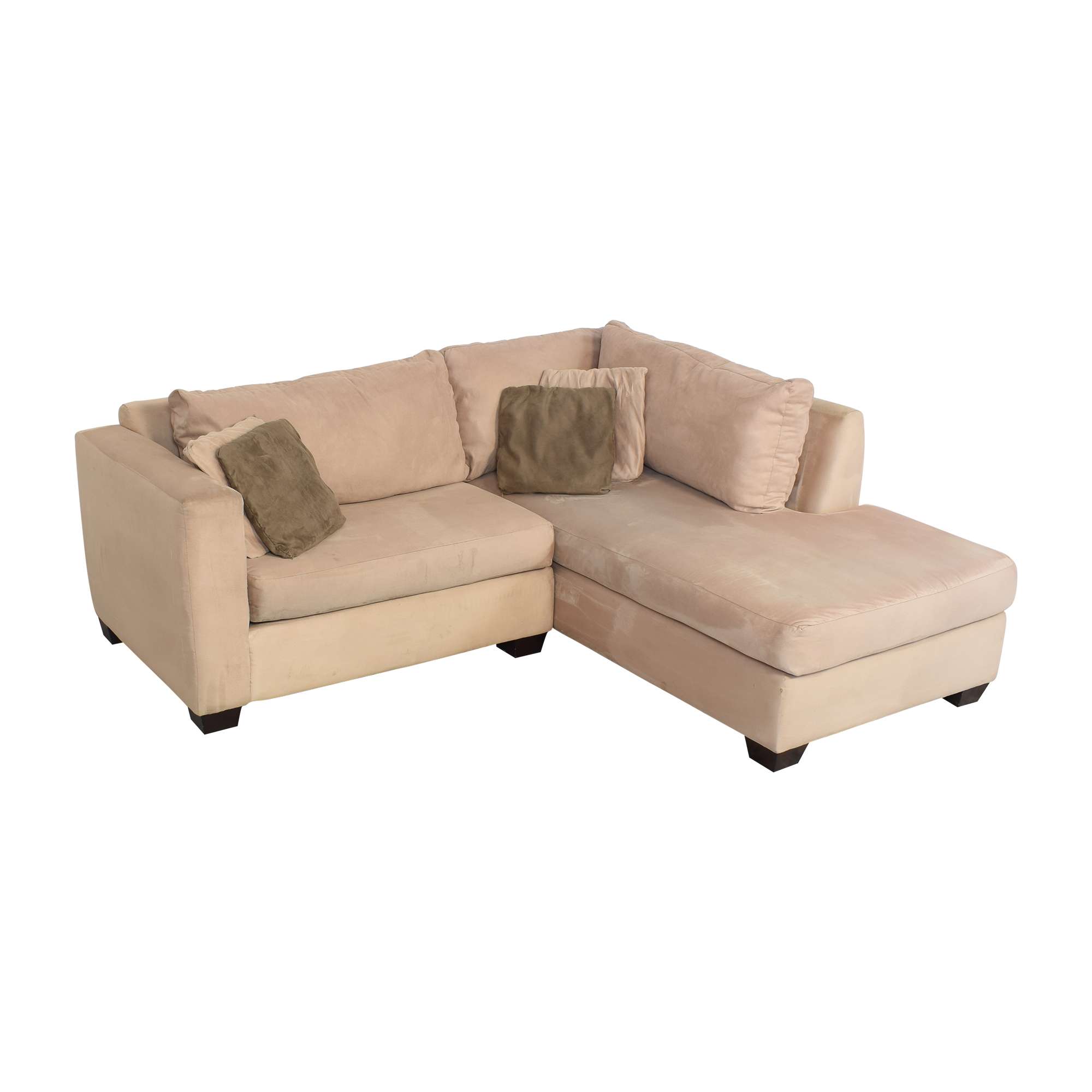 51 off two piece chaise sectional sofa sofas