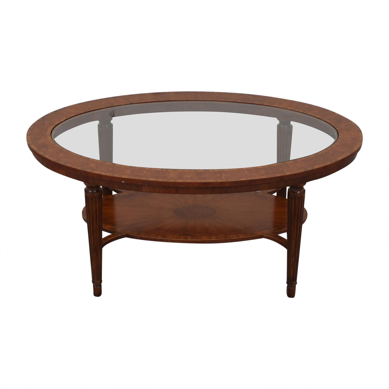 81 off maitland smith maitland smith oval coffee table tables