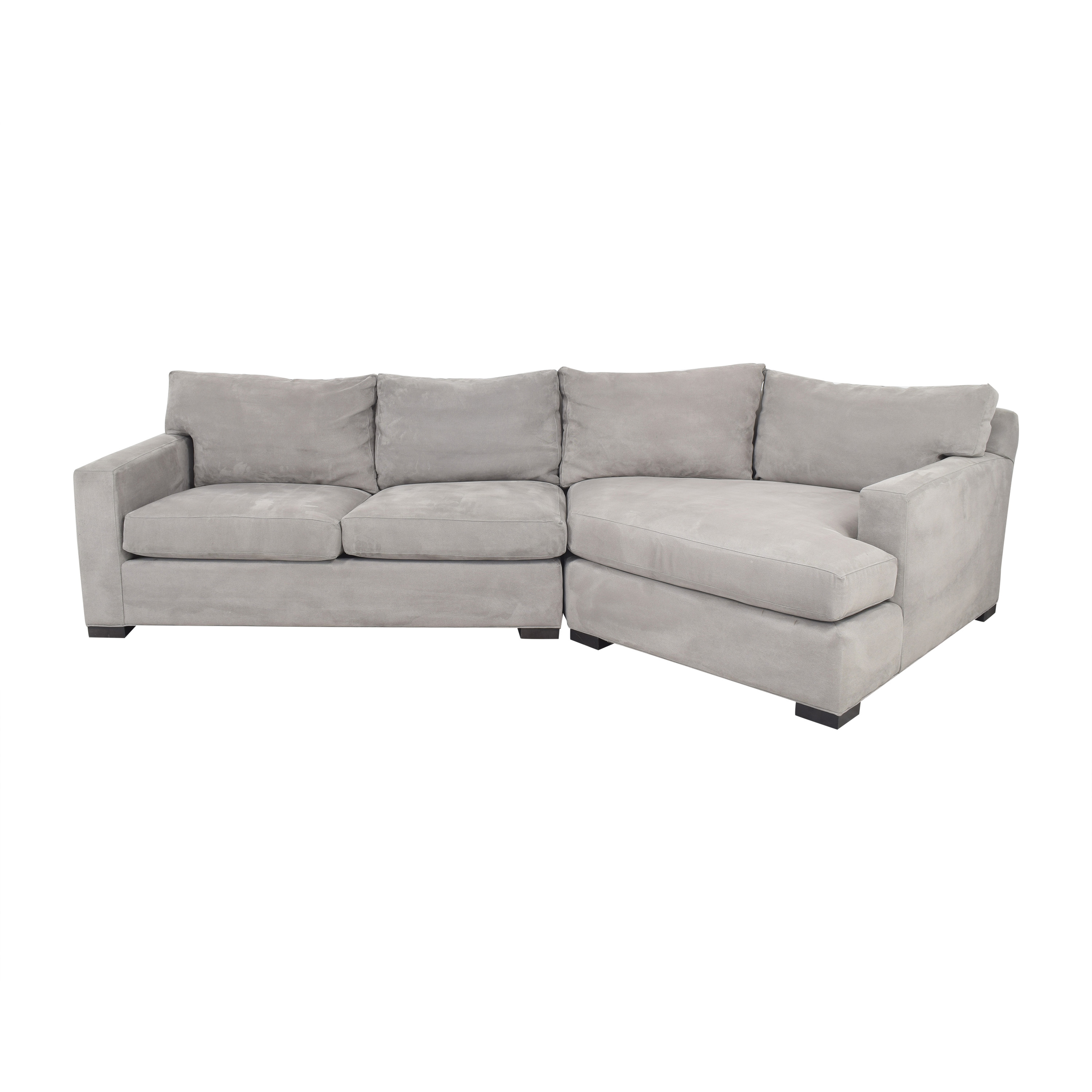 68 off crate barrel crate barrel axis ii 2 piece right arm angled chaise sectional sofa sofas