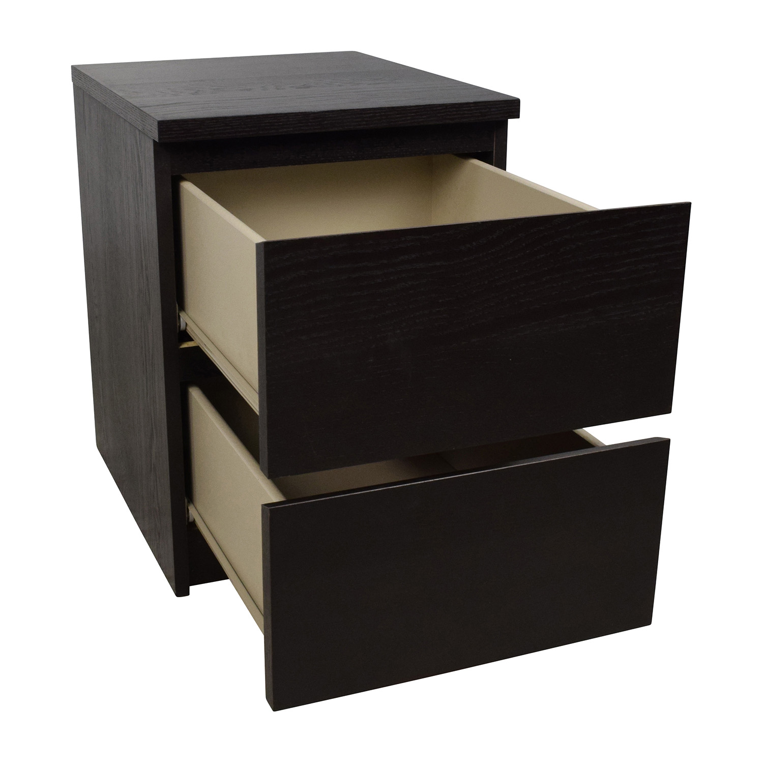 67 Off Ikea Ikea Malm Black Two Drawer Nightstand Tables