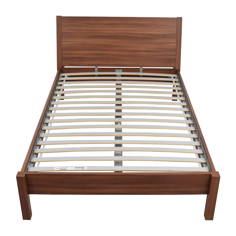 84 Off Ikea Ikea Queen Wooden Platform Bed Frame Beds