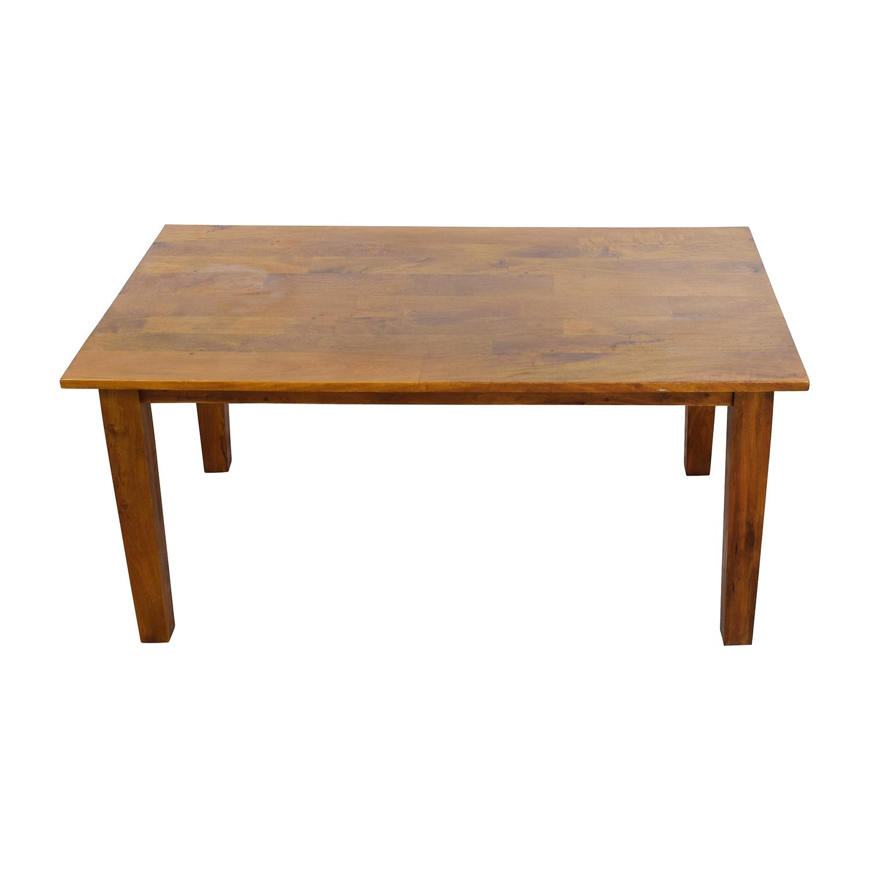 62 off crate barrel crate barrel solid wood rustic dining table tables