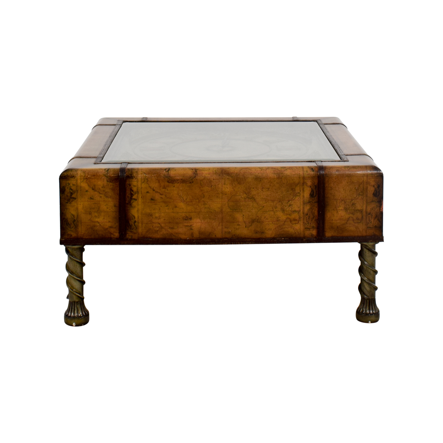 90 off glass clock top coffee table tables