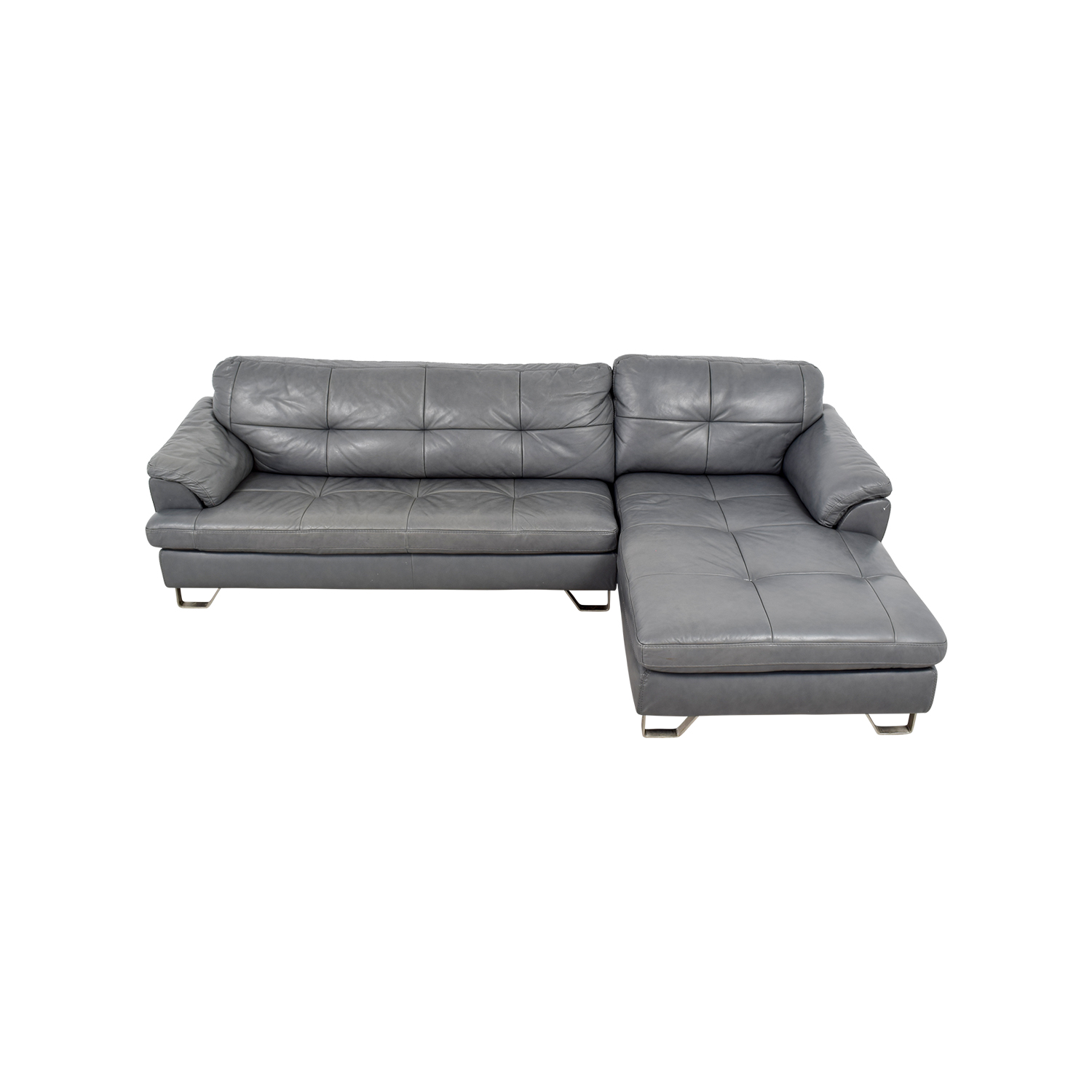 83 Off Ashley Furniture Ashley Furniture Gray Tufted Sectional Sofa Sofas
