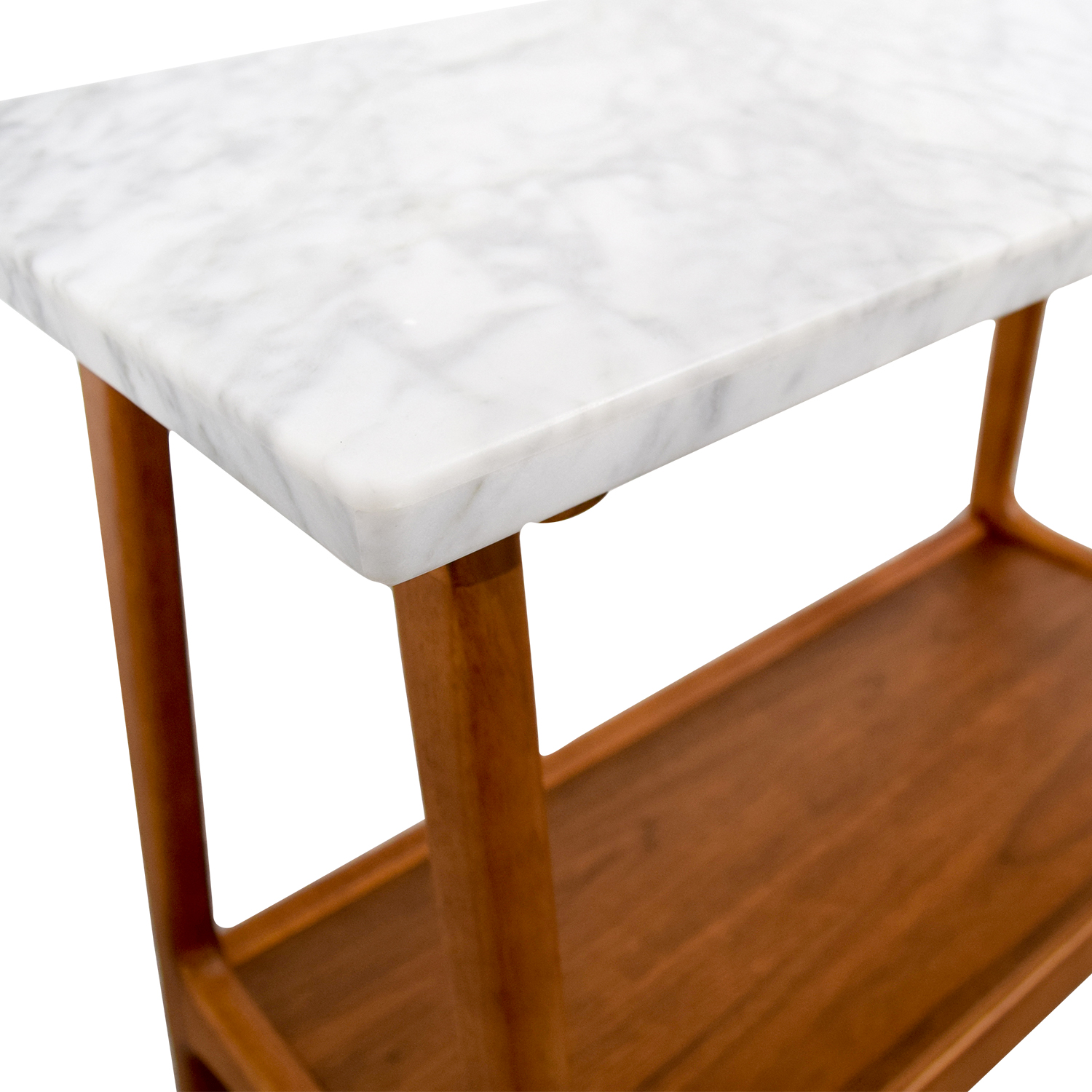 57 off west elm west elm reeve marble walnut side table tables