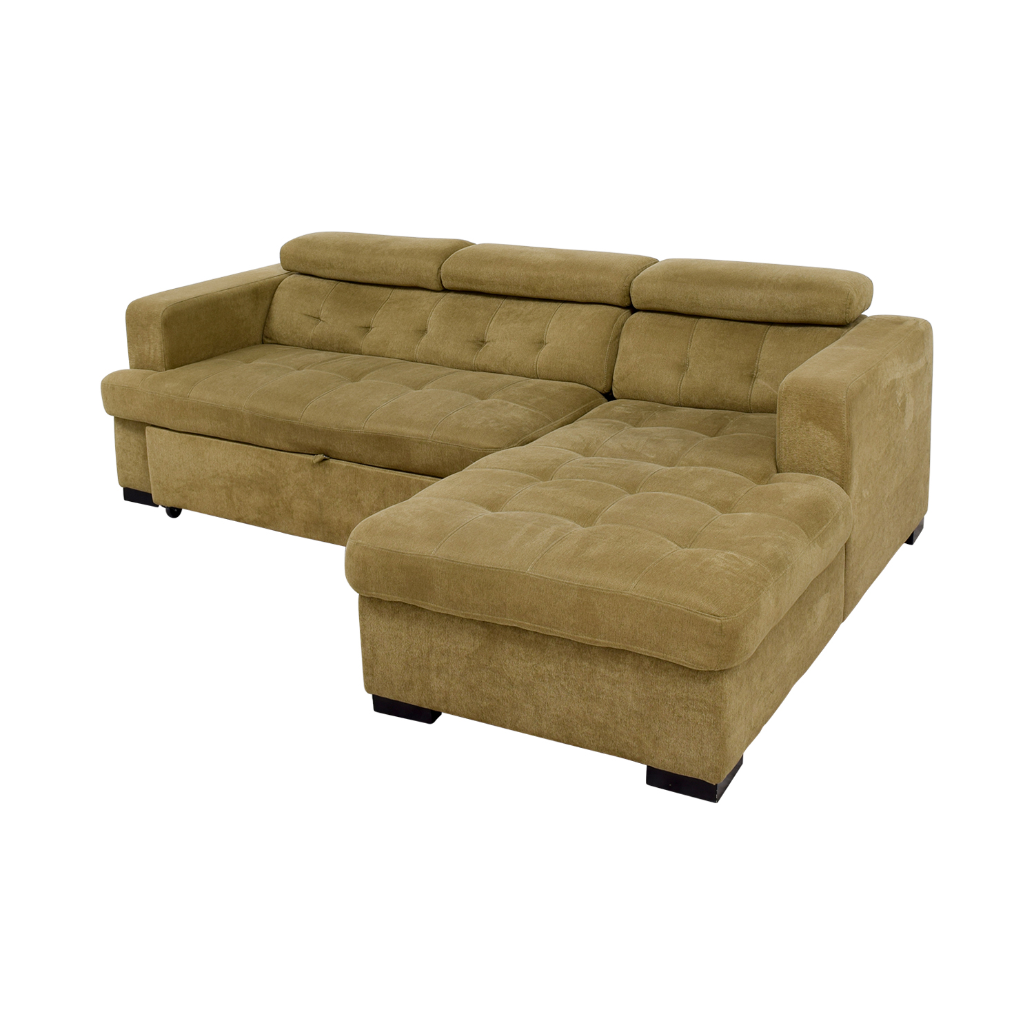 59 Off Bob S Discount Furniture Bob S Furniture Gold Chaise Sectional Sleeper Sofa Sofas