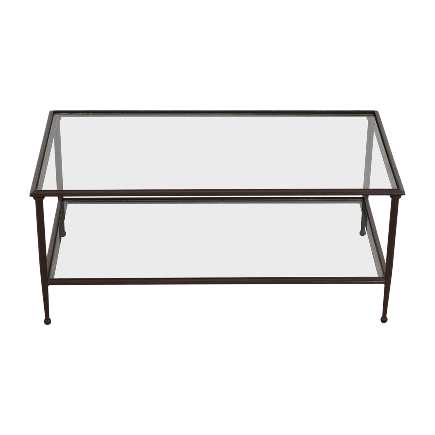 74 off crate barrel crate barrel glass metal coffee table tables