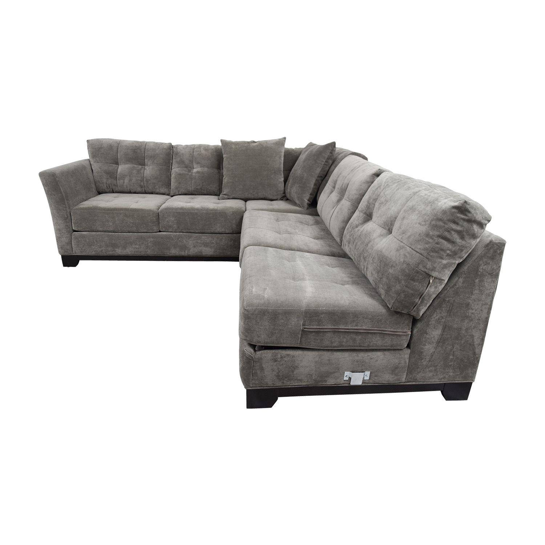 74 off macy s macy s gypsy grey l shaped sleeper sectional sofas