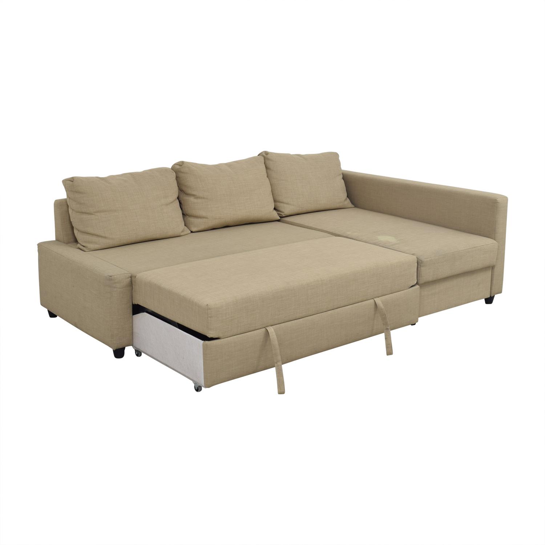 79 off ikea ikea friheten tan sleeper sectional sofas
