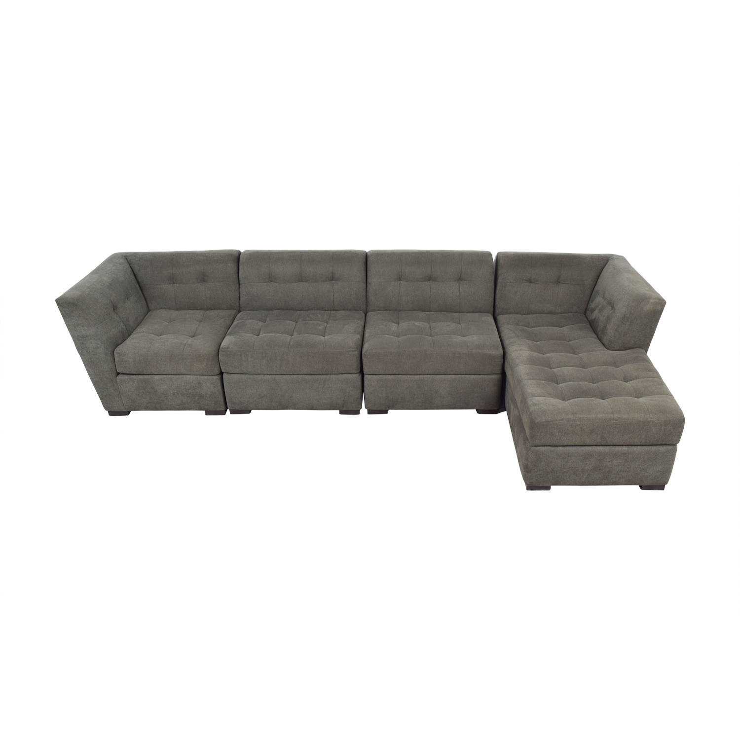 70 off macy s macy s grey tufted four piece chaise sectional sofas
