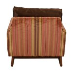 89 Off Adrian Pearsall Adrian Pearsall Red And Yellow Striped Accent Chair Chairs