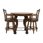 90 Off Ashley Furniture Ashley Furniture Faux Marble Pub Table And Chairs Tables