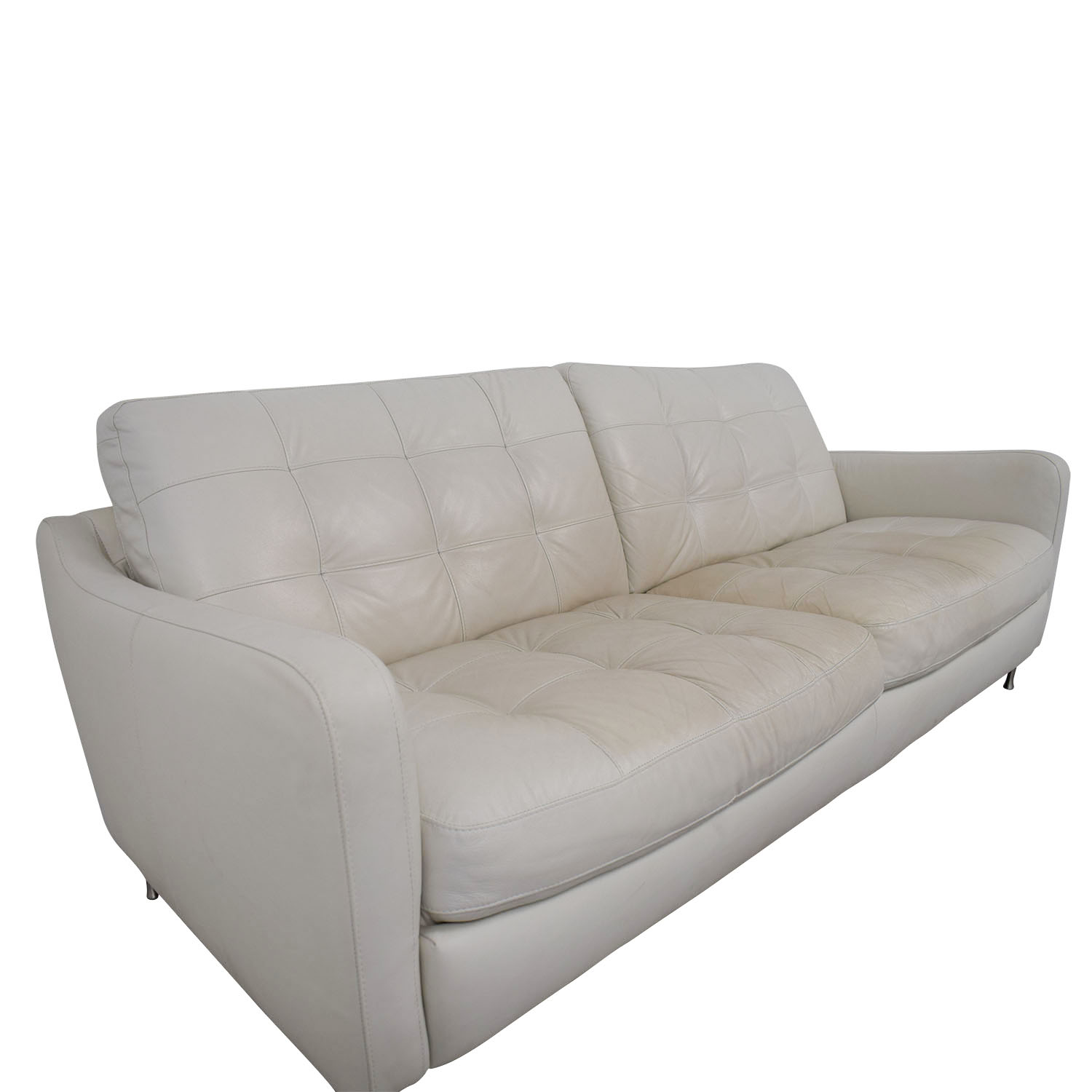 Our editors independently research, test, and recommend the best products; 90% OFF - Natuzzi Natuzzi White Tufted Leather Sofa / Sofas