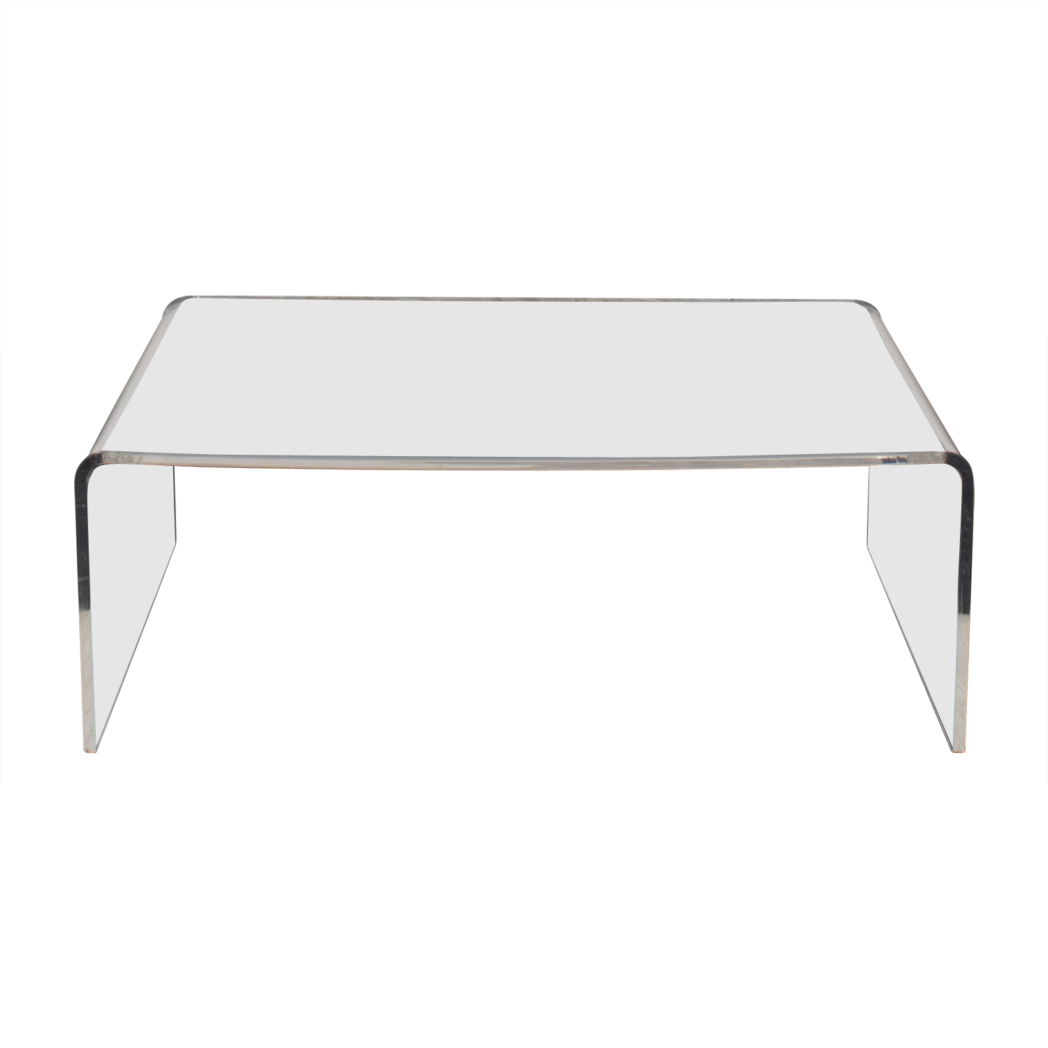 70 off cb2 cb2 acrylic ghost coffee table tables