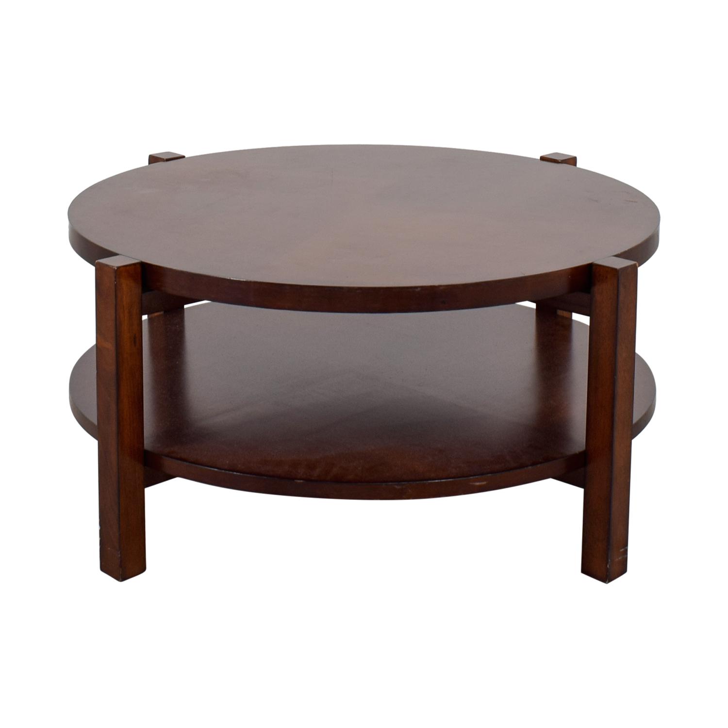 90 off bassett furniture bassett rotating round wood coffee table tables