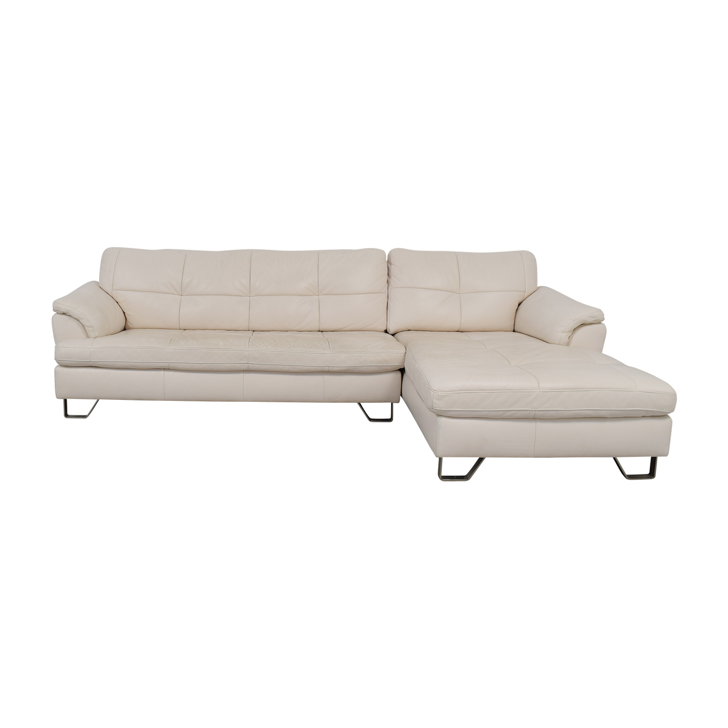 88 off ashley furniture ashley furniture white leather chaise sectional sofas
