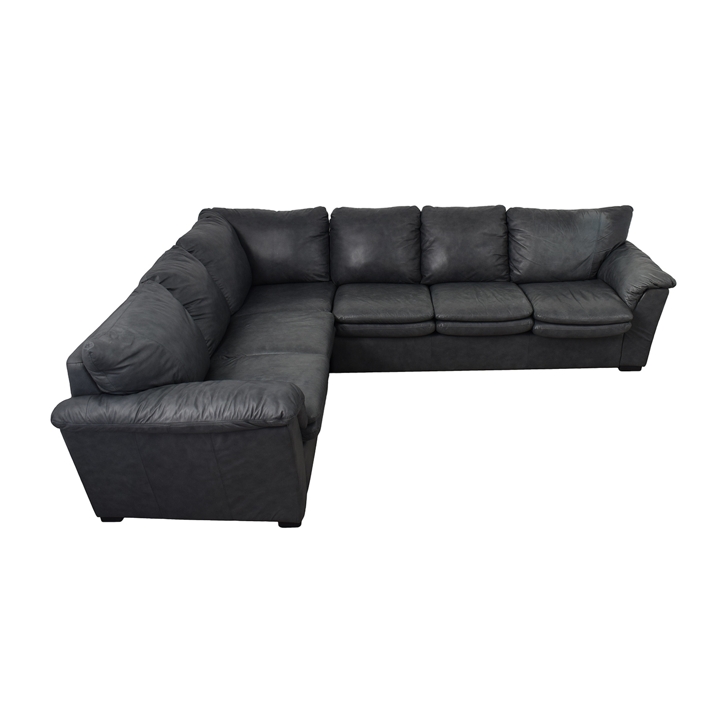 90 off jaymar jaymar furniture charcoal leather l shaped sectional sofas